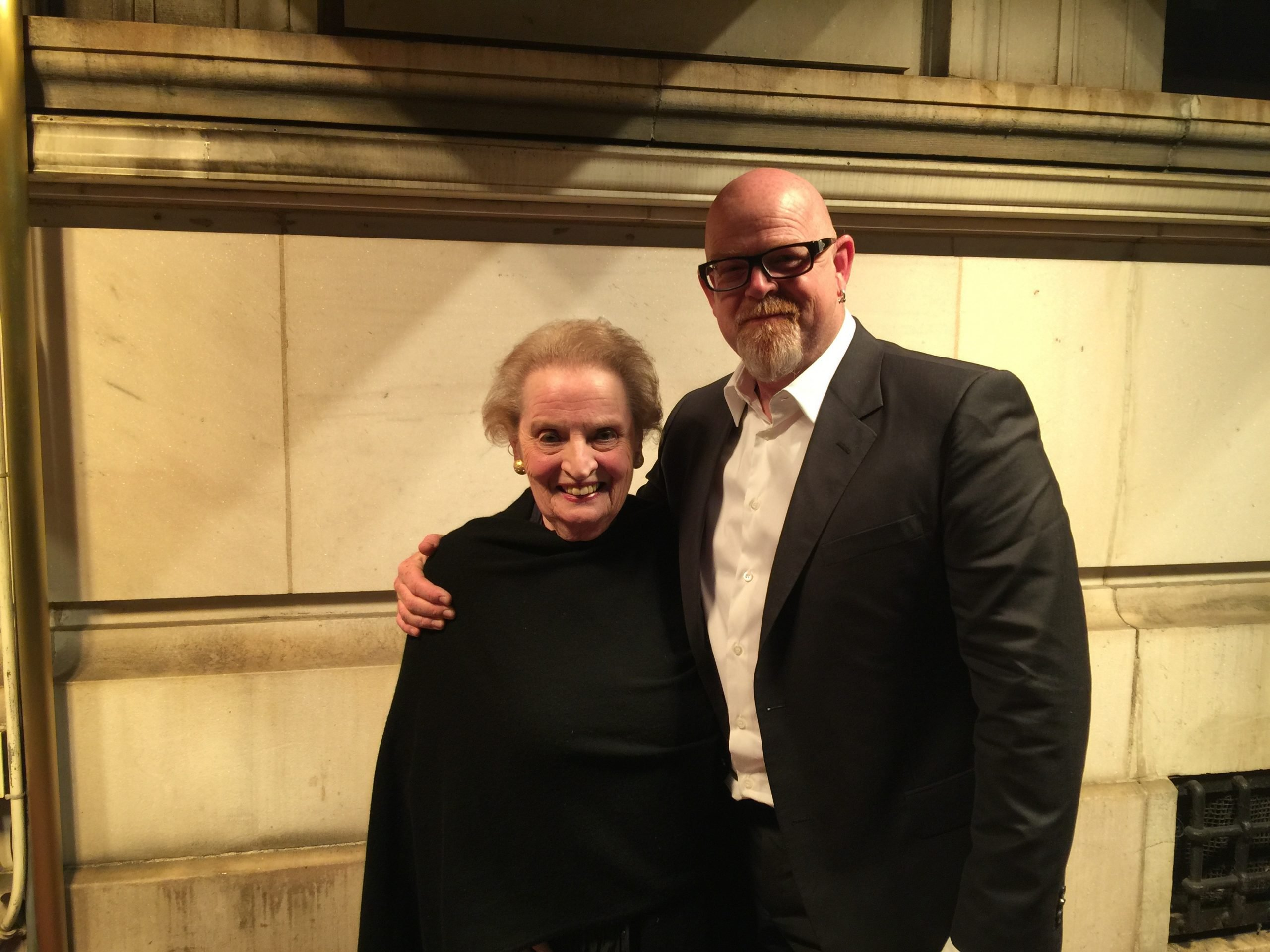 With Madeleine K. ALBRIGHT